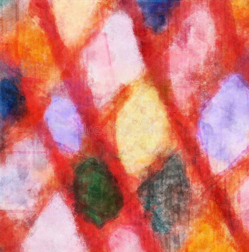 Feche acima do fundo do sumário da pintura de óleo Pincelada textured arte ilustração stock