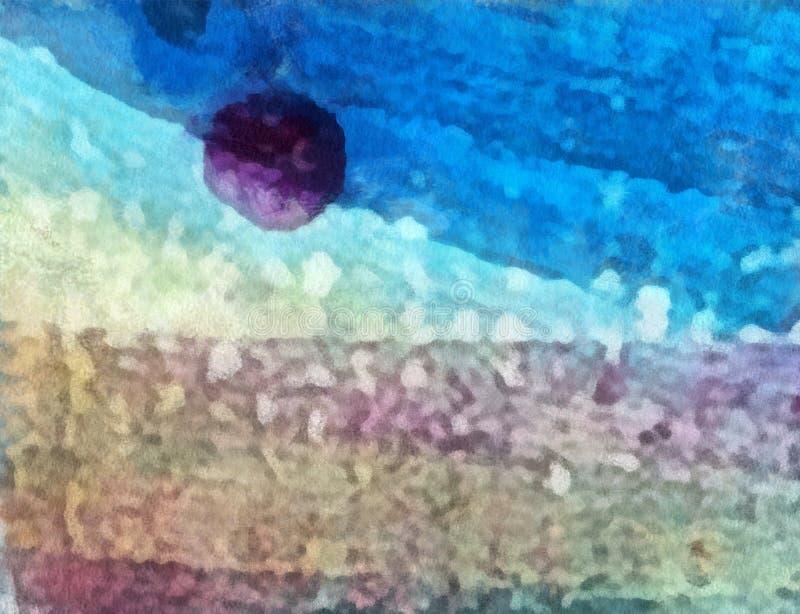 Feche acima do fundo do sumário da pintura de óleo Pincelada textured arte ilustração do vetor