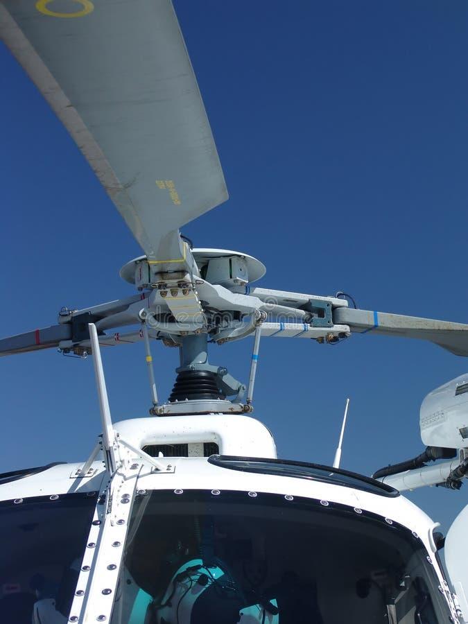 Feche acima do helicóptero fotos de stock