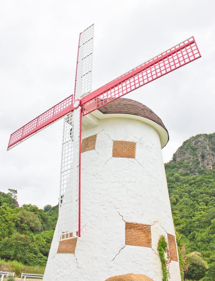 Feche acima do moinho de vento. fotografia de stock royalty free