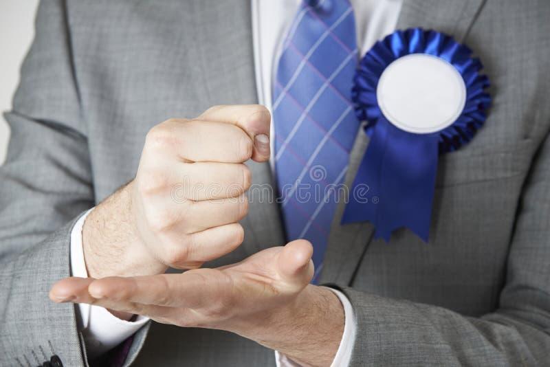 Feche acima do político Making Passionate Speech imagens de stock royalty free