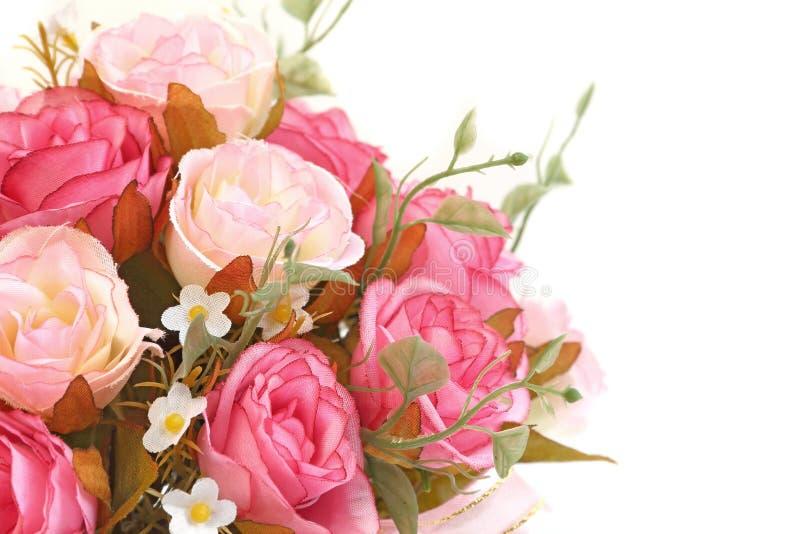 Feche acima do ramalhete cor-de-rosa das rosas imagens de stock royalty free
