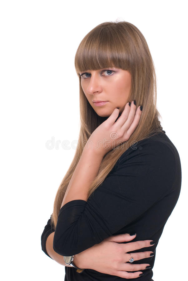 Download Feche Acima Do Retrato Da Mulher De Negócio Certa Nova Imagem de Stock - Imagem de agradável, adulto: 12809851
