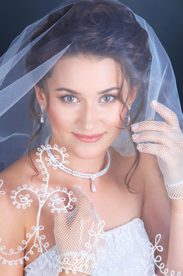 Feche acima do retrato da noiva foto de stock royalty free