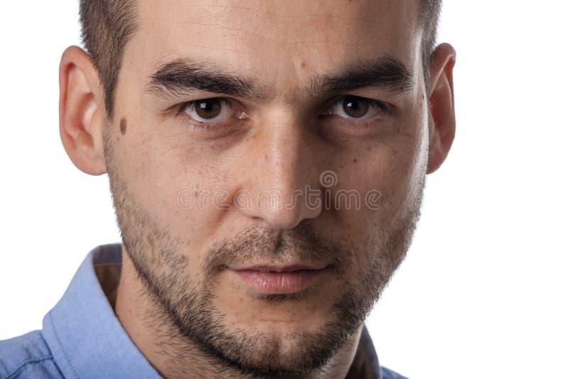 Feche acima do retrato masculino fotos de stock royalty free