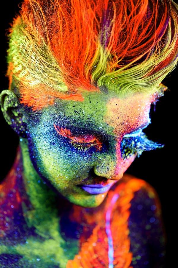 Feche acima do retrato UV fotografia de stock royalty free