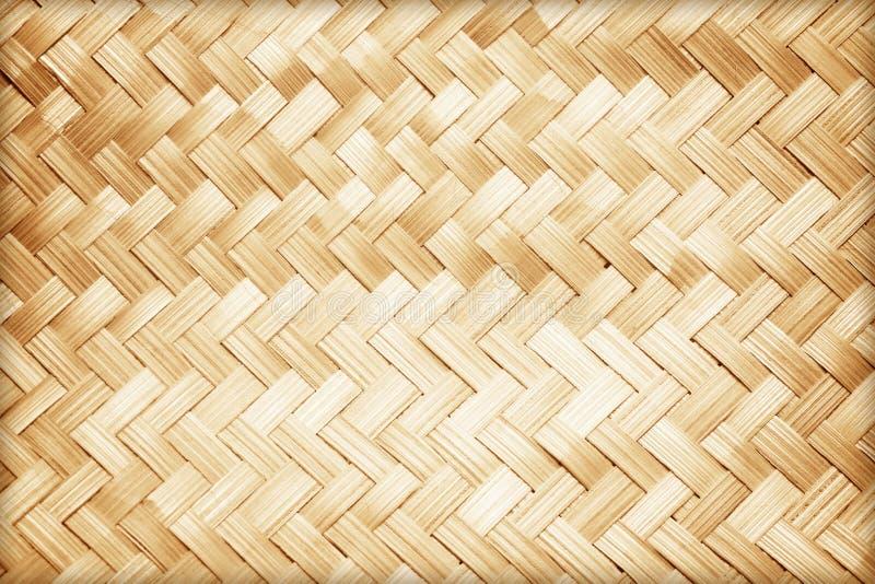 Feche acima do teste padrão de bambu tecido imagens de stock