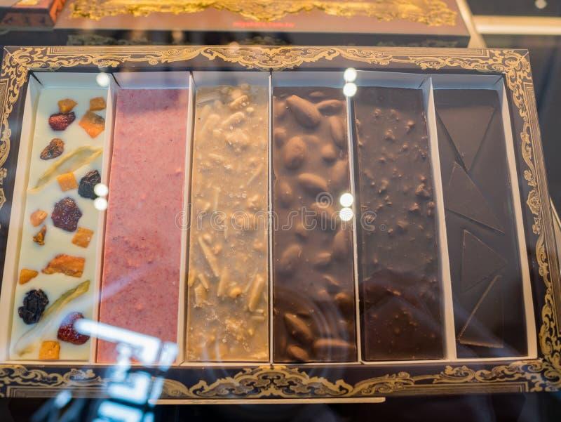 Feche acima do tiro do chocolate do gelado especial s de Miyahara fotos de stock royalty free