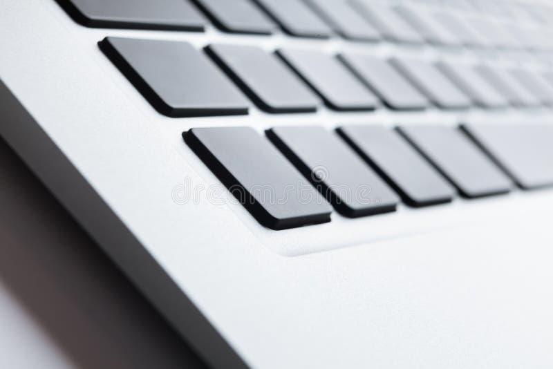 Feche acima do tiro de um teclado imagem de stock royalty free