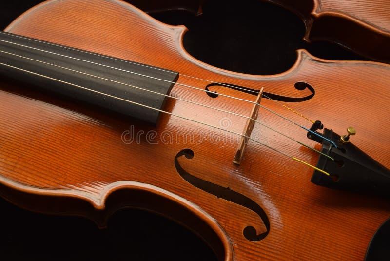 Feche acima do violino 1 fotos de stock