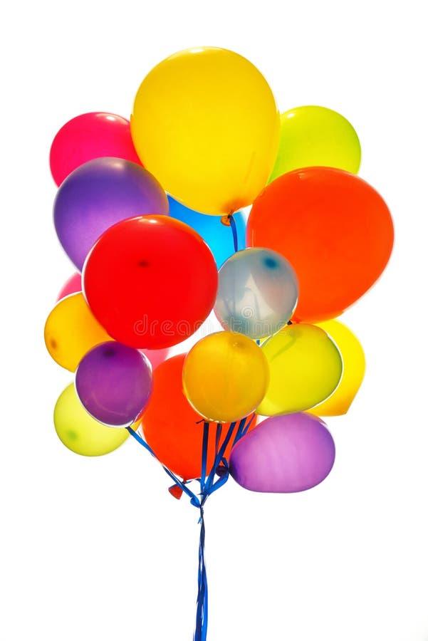 Feche acima dos baloons coloridos foto de stock royalty free