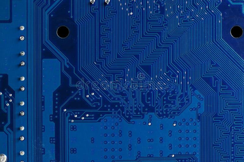 Feche acima dos circuitos de computador imagem de stock