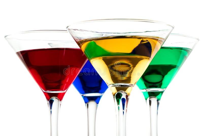 feche acima dos cocktail da cor imagens de stock royalty free