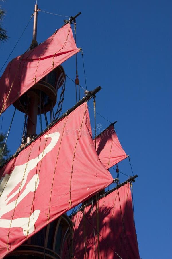 Feche acima em um navio de pirata imagem de stock royalty free
