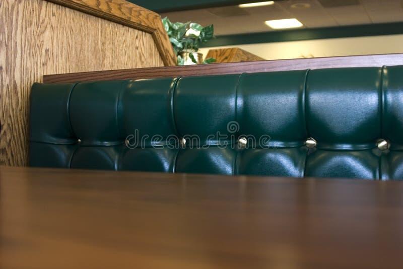 Feche acima em uma cabine do restaurante fotos de stock royalty free