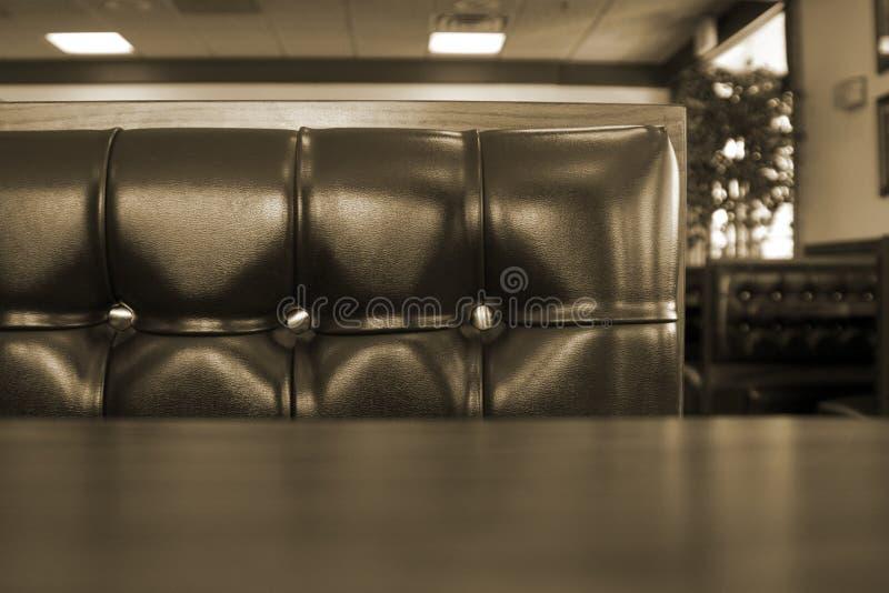Feche acima em uma cabine do restaurante do cromo fotografia de stock