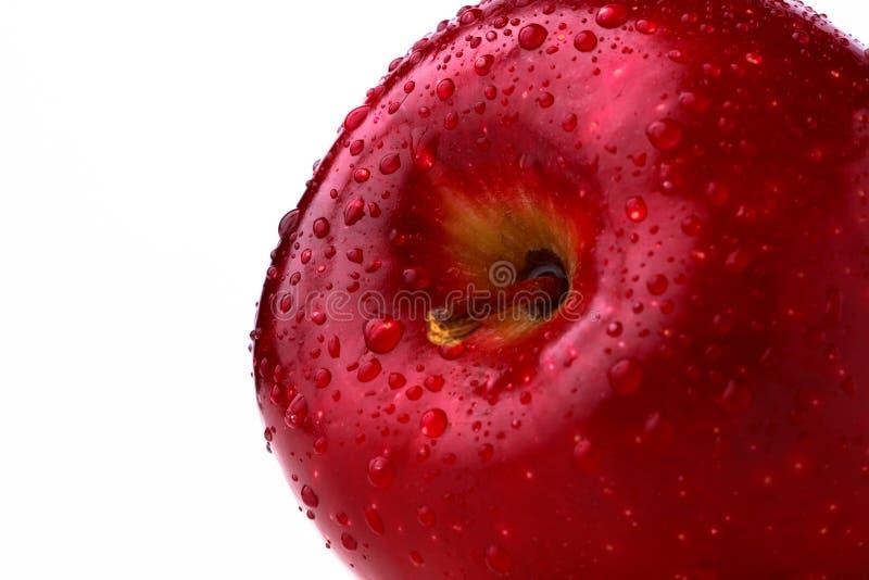 Feche acima em uma maçã vermelha fotos de stock royalty free