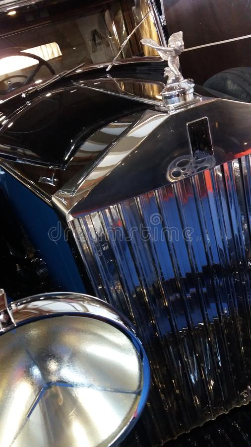 Feche acima na parte dianteira de Rolls Royce fotos de stock