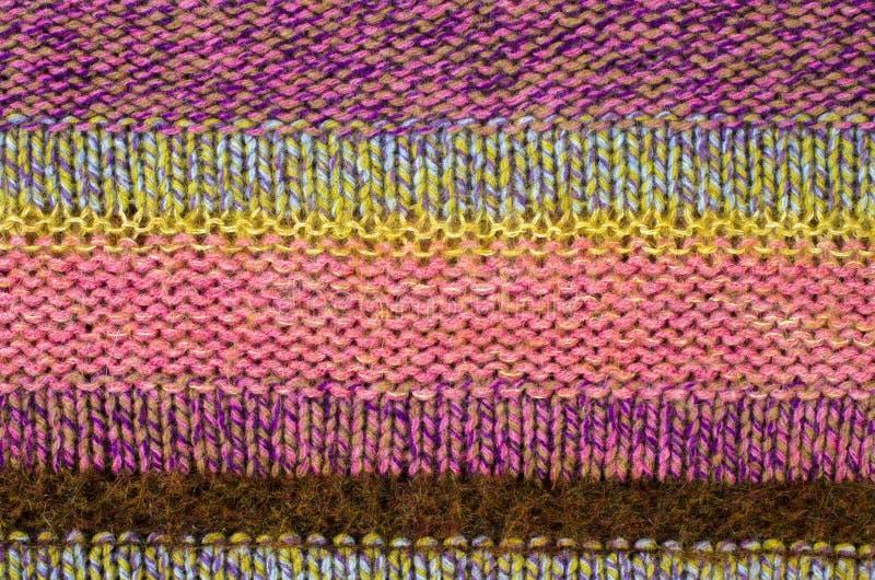Feche acima na textura de lã da malha foto de stock