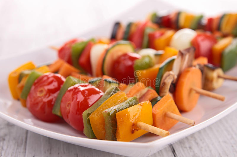 Kebab vegetal fotos de stock