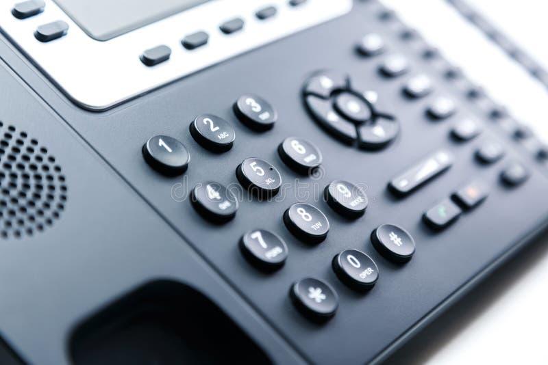 Feche acima - o teclado numérico do telefone imagem de stock