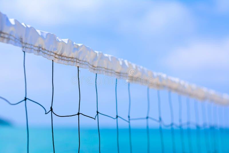 Feche até a rede no mar azul imagem de stock royalty free