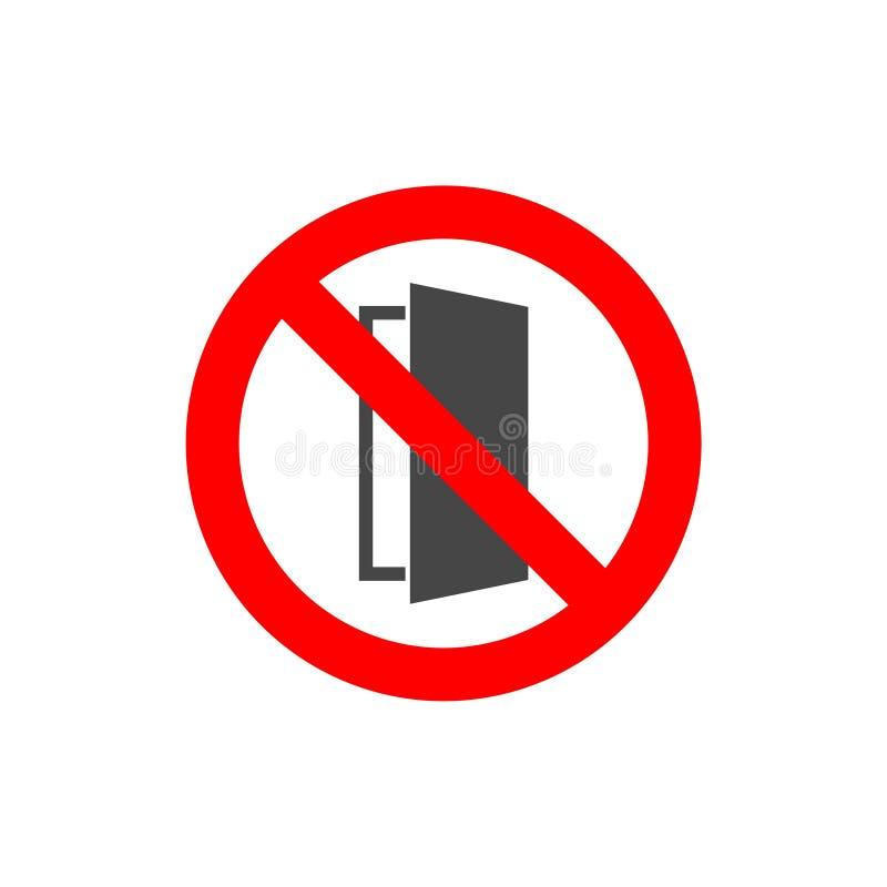 Feche o sinal da porta, mantenha este ícone fechado da porta ilustração royalty free
