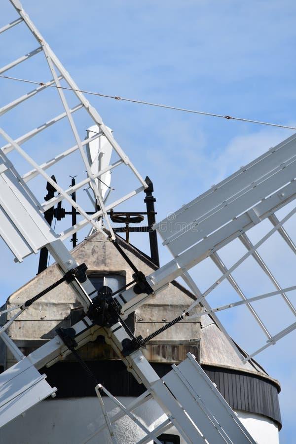 Fecho de Ballycopeland Windmill em County Down, Irlanda do Norte, Reino Unido fotos de stock royalty free