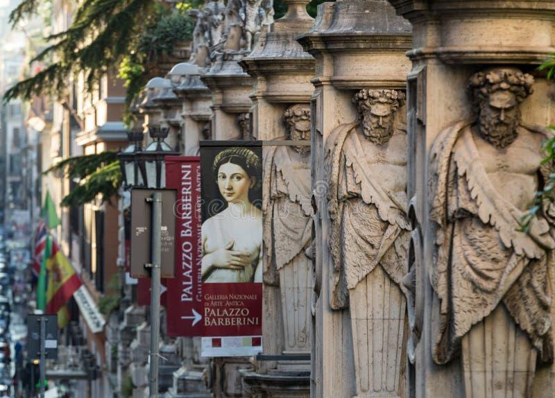 Fechten von Palazzo Barberini stockfoto