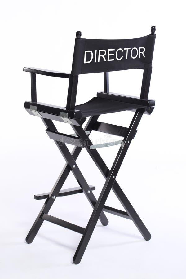 Feci della sedia del regista del cinema del cinema isolate su fondo bianco immagini stock libere da diritti
