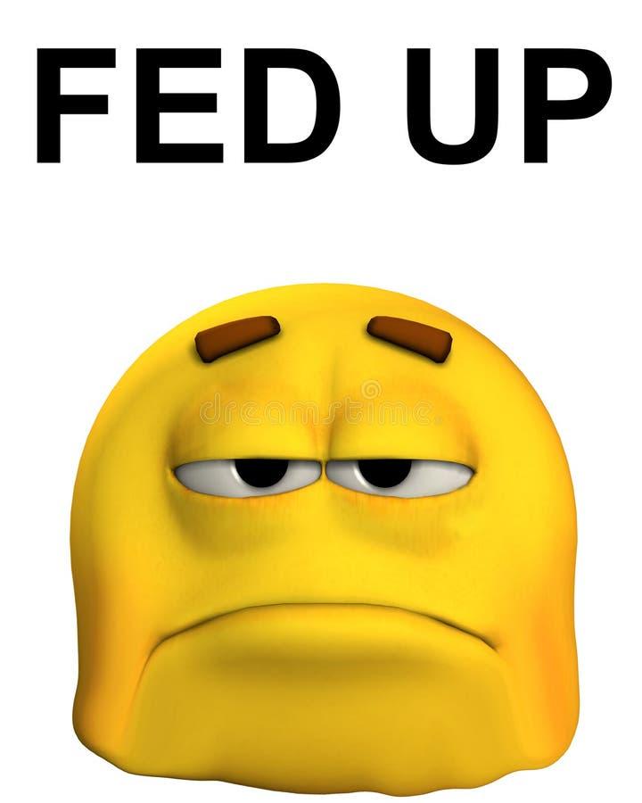 Fed acima de 2 ilustração stock