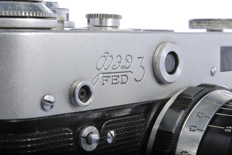 FED 3, Russian rangefinder. 35mm, industar 61. One of the best old russian rangefinders royalty free stock image