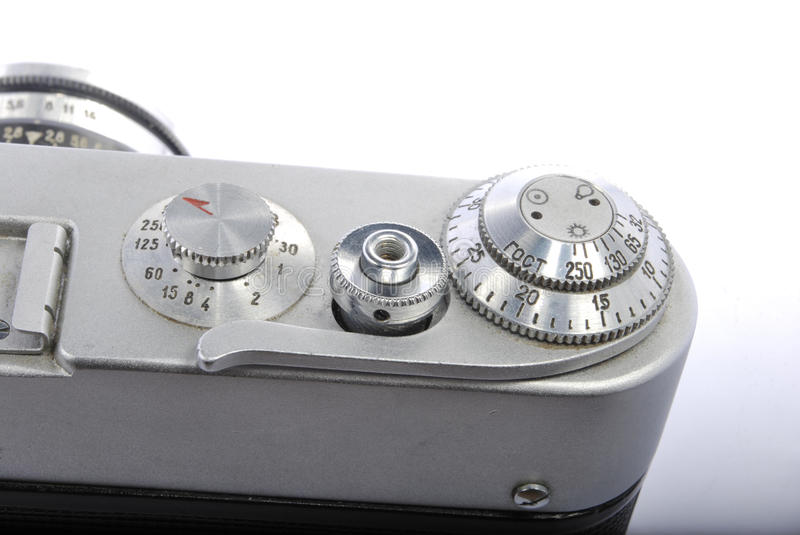 FED 3, Russian rangefinder. 35mm, industar 61. One of the best old russian rangefinders stock images