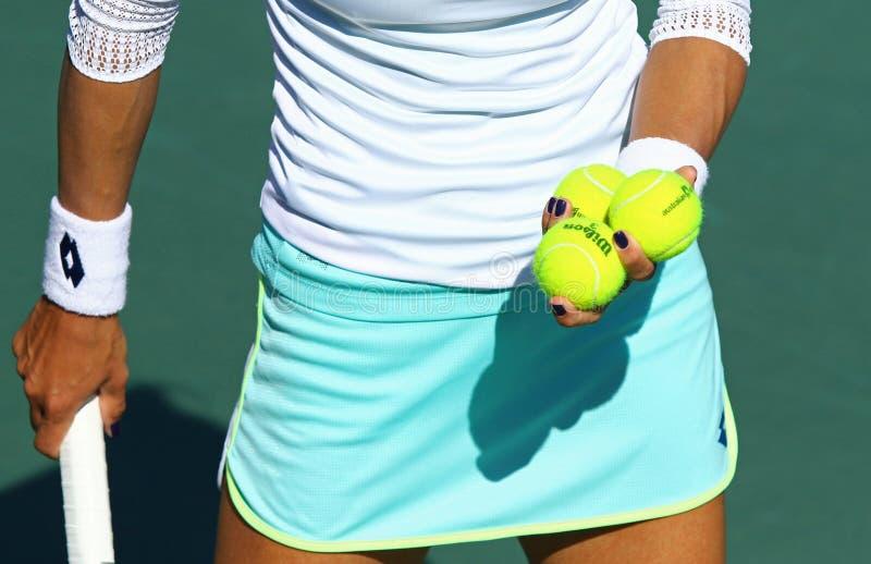 FedCup tennismatch Ukraina vs Argentina fotografering för bildbyråer