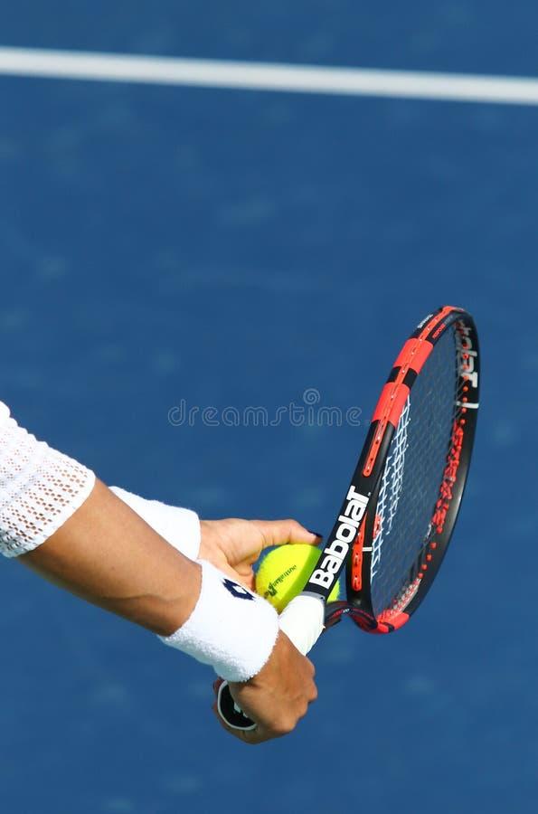 FedCup tennismatch Ukraina vs Argentina royaltyfria bilder