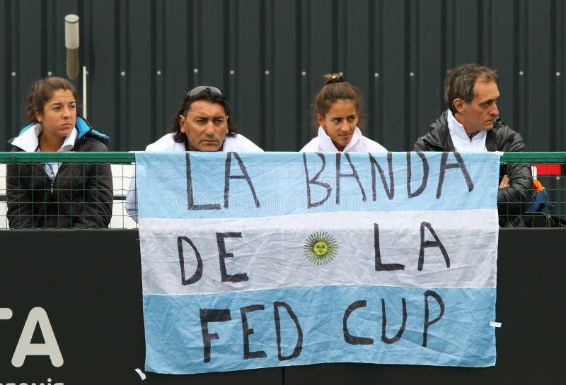 FedCup-Tennismatch Ukraine gegen Argentinien stockbilder
