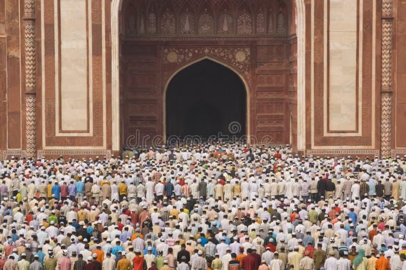 Fedele islamico alla preghiera fotografia stock