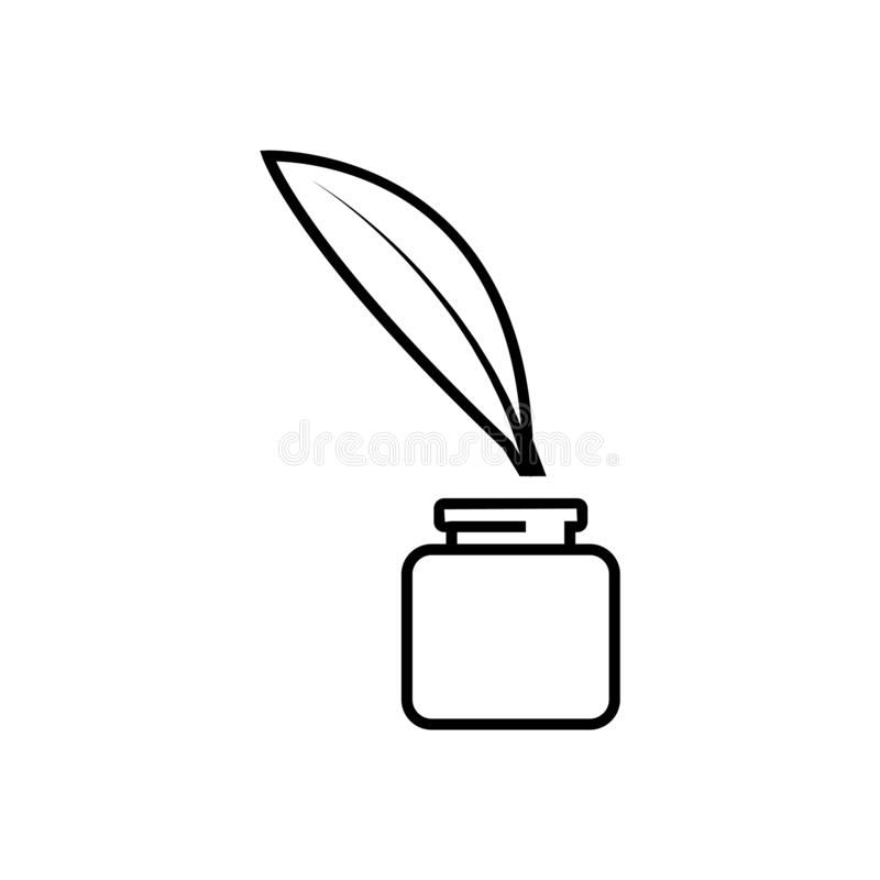 Feder Feder Illustrationsvektorikone stock abbildung