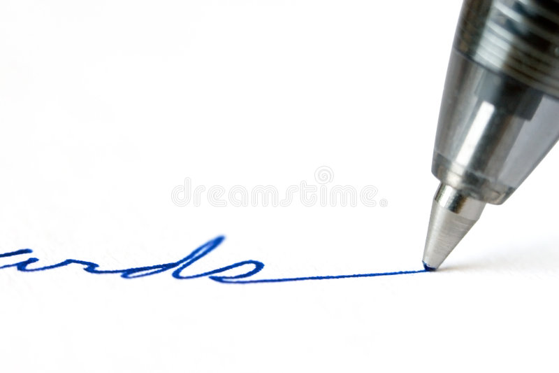 Feder-Schreiben lizenzfreies stockbild