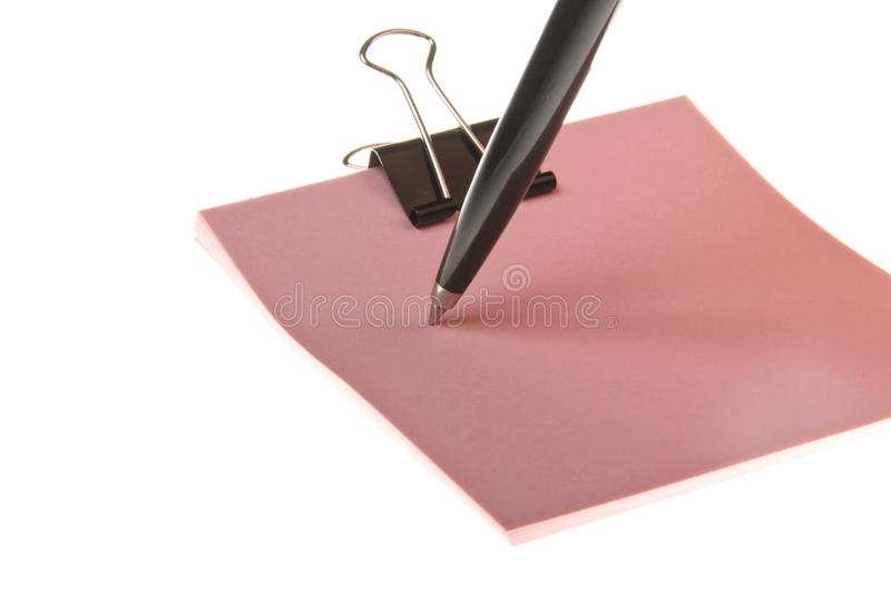 Feder und Aufkleber für Büro lizenzfreies stockfoto