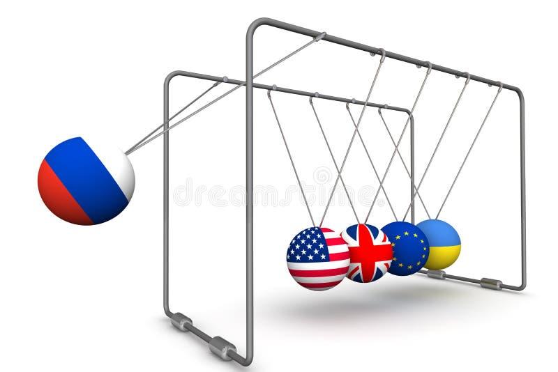 A Federação Russa como um fator na dinâmica da geopolítica O conceito ilustração stock