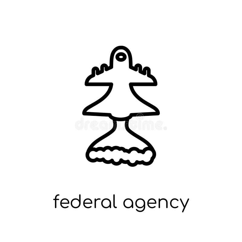 federaal agentschappictogram  stock illustratie