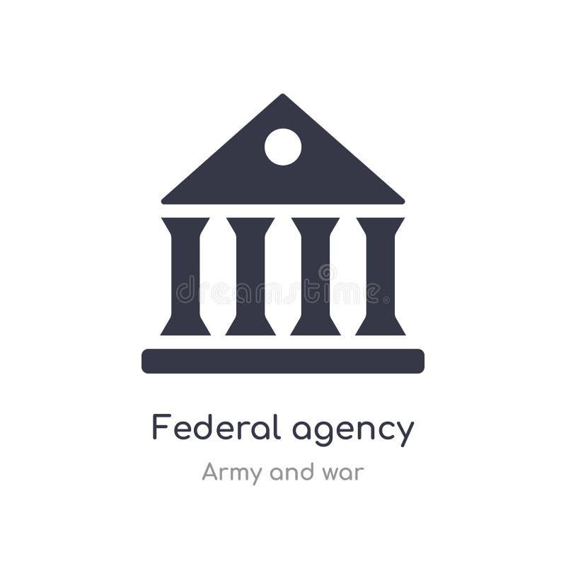 federaal agentschappictogram de geïsoleerde vectorillustratie van het federaal agentschappictogram van leger en oorlogsinzameling vector illustratie