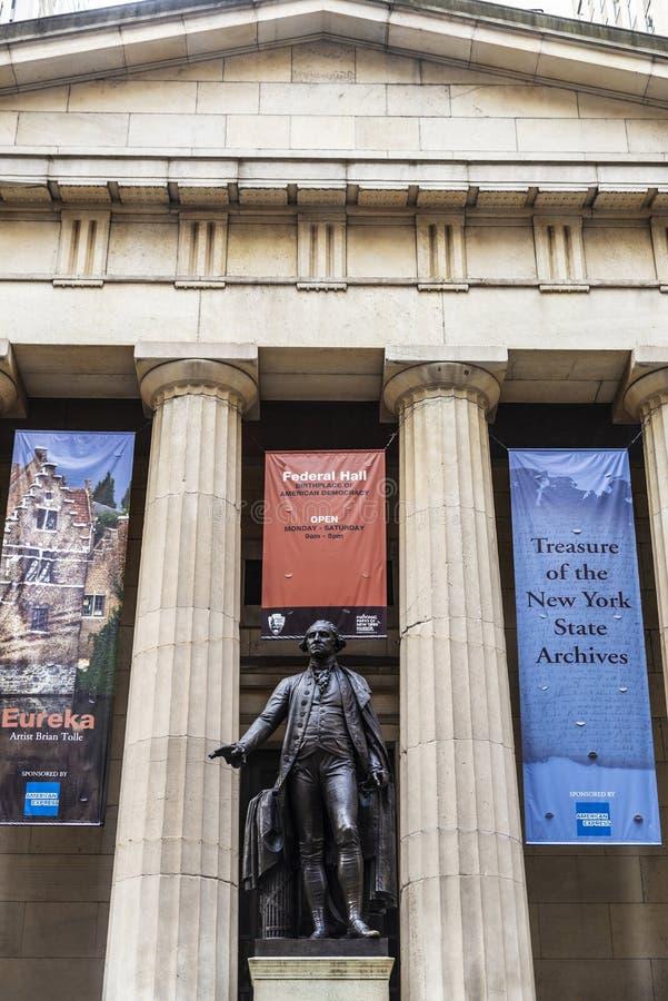 Federaal Hall National Memorial in de Stad van New York, de V.S. royalty-vrije stock foto