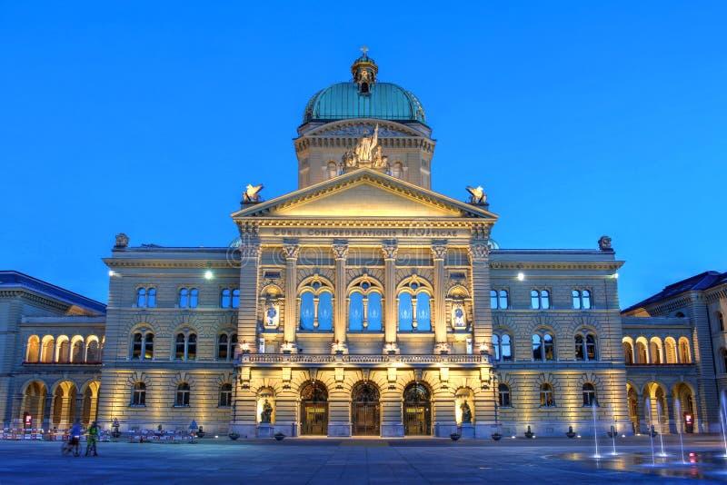 Federaal Paleis, Bern, Zwitserland royalty-vrije stock foto