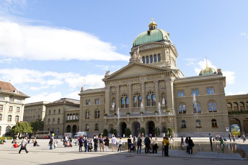 Federaal Paleis van Zwitserland in Bern stock foto's