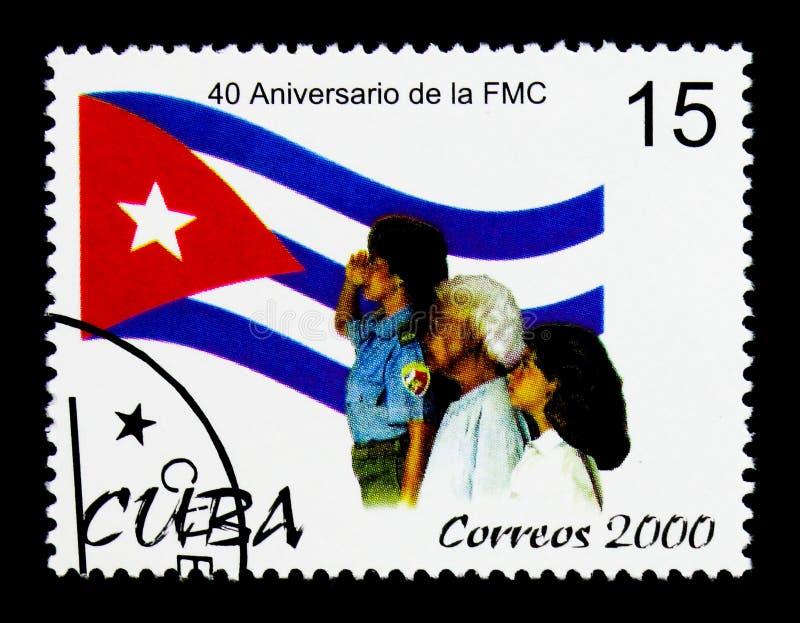 Federacj kobiety, 40th rocznica federacja Kubański kobiety seria około 2000, zdjęcie royalty free