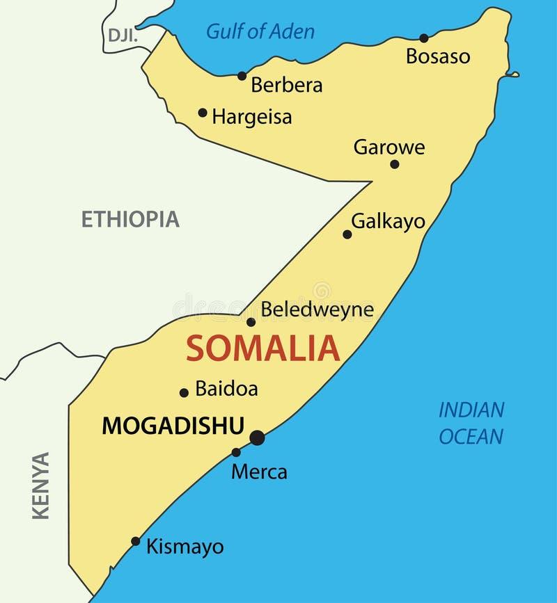 Federacyjna republika Somalia - mapa ilustracja wektor