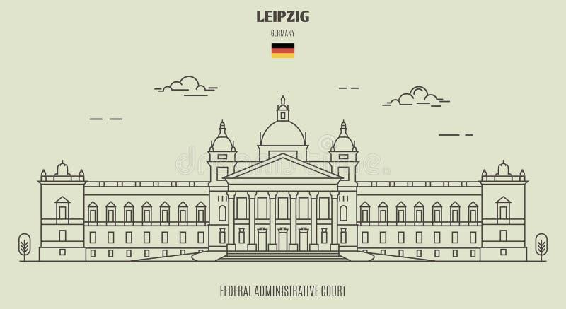 Federacyjny Administracyjny sąd w Leipzig, Niemcy Punkt zwrotny ikona royalty ilustracja