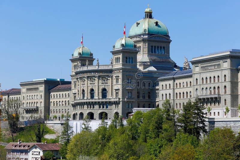 Federacyjny pałac budynek w Bern obrazy royalty free